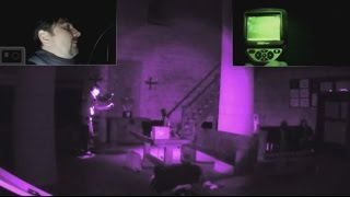 """Orthez Town, France at """"La tour Moncade"""".A French youtubeur Ghost Hunters will film an object that will move and fall off a table. Yet he is alone and the outer door is closed with two locks.It's incredible."""