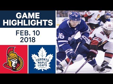 Video: NHL Game Highlights | Senators vs. Maple Leafs - Feb. 10, 2018