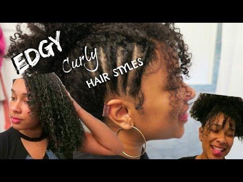 2 'EDGY' Curly Hairstyles 3c/4a Hair  Sophia Lazuli