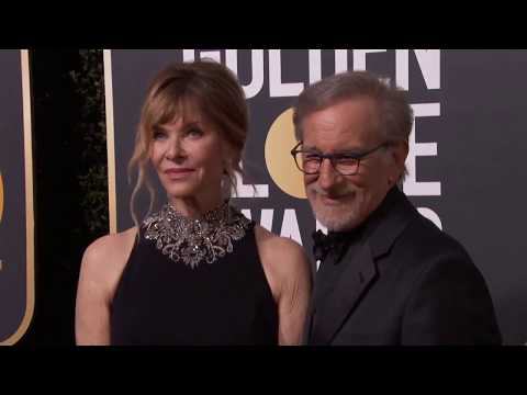 Steven Speilberg & Kate Capshaw Golden Globe Awards Fashion Arrivals (2018)