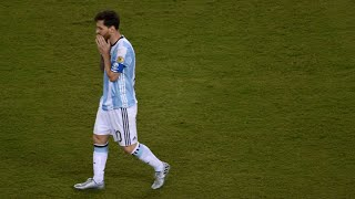 Thank You for Watching! Make sure you Subscribe, Like, Comment and Share!1 more year until Lionel Messi has his last go at a World Cup glory in Russia 2018. I have gathered the important parts of the 3 consecutive finals Argentina lost. The 2014 WC loss to Germany in dying moments of Extra-Time and the back to back losses to Chile in Copa America 2015 and Centenario 2016 on penalties. Messi will have to win this WC in order to put an end to the GOAT debate. Song: Jorge Mendez - Cold