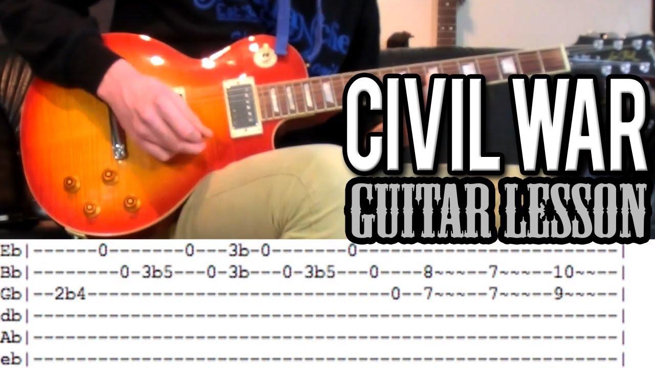 Guns N'Roses – Civil War FULL Guitar Lesson (With Tabs)