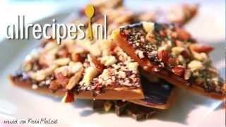 Harde toffee met chocola