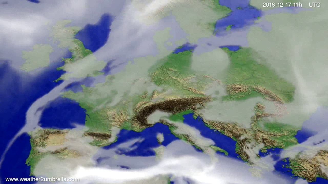 Cloud forecast Europe 2016-12-14