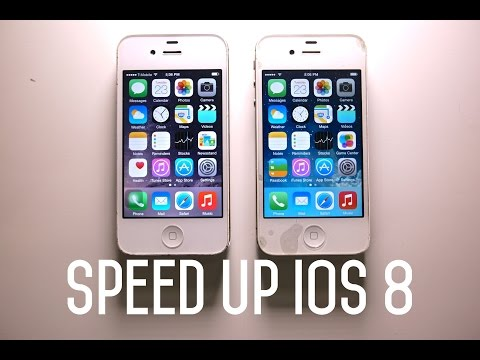 iphone 4S - Comparison Between iOS 8 vs iOS 7 on iPhone 4S. Make your iPhone Faster on 8.0. How to speed up load times & make it snappier. MORE Info: http://phonerebel.c...