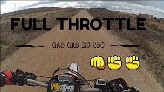 9. Gas Gas ec 250 Full Throttle    top speed Go pro Full HD
