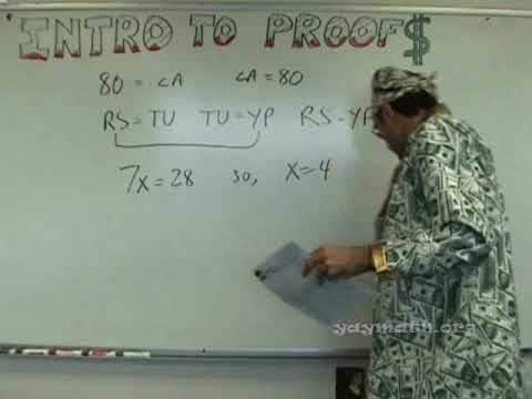 geometry - Math money, baby! In this important lesson, we introduce the concept of proofs in Geometry. We start with a quick run through of some common properties, then...