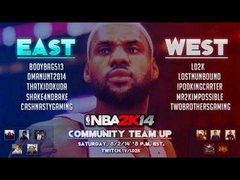 NBA 2K14 - Community Team-Up Games - Ft. @IpodKingCarter @DManUNT2014 @LD2K @TwoBrosGaming and more!