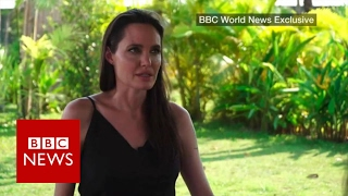 Angelina Jolie on her new film First They Killed My Father - based on the genocide in Cambodia - politics and her family. She was speaking in an exclusive in...