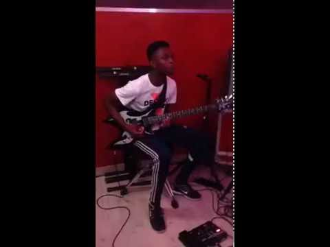 How To Play Electric Guitar With Drums, Bass And Keyboard Soukous Style. Congo Music Sebene