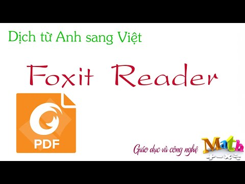 Dịch từ Anh sang Việt - file PDF bằng Foxit Reader - Install Foxit Reader & translate PDF