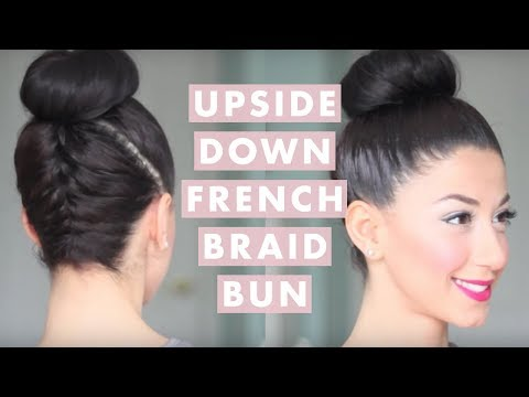 upside down french braid - This hairstyle was highly requested, so I hope you guys find it helpful! What I used: - Paddle Brush - Small Elastics - Bobby Pins - Elastic Band - Mousse - ...