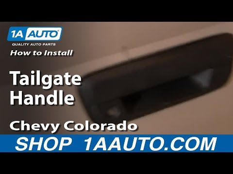 How To Install Replace Tailgate Handle Chevy Colorado 04-12 1AAuto.com