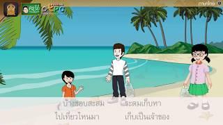สื่อการเรียนการสอน คำเตือนจากฟ้าดิน ป.4 ภาษาไทย