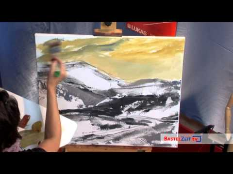 Bastelzeit TV 87 - Acrylbild: Landschaft