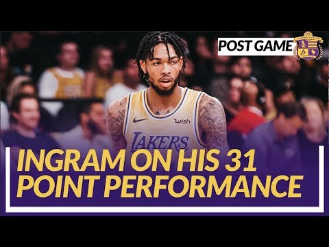 Video: Lakers Post Game: Ingram Talks About His 31 Point Performance In a Win