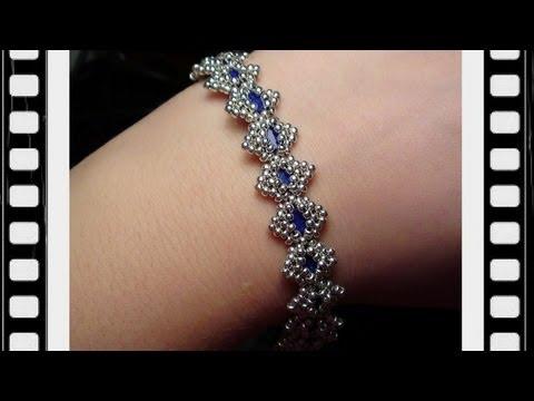 Bollywood Bracelet with Tila beads Beading Tutorial by HoneyBeads (Video tutorial)