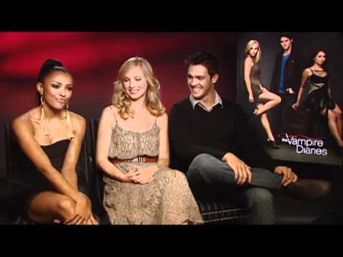 Vampire Diaries interview with Candice Accola, Kat Graham and Steven R. McQueen