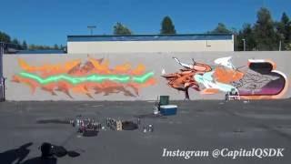 Amazing Graffiti Timelapse of 10 hours