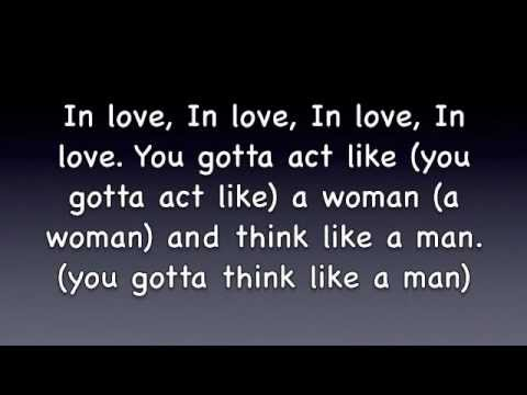 Think like a man Lyrics