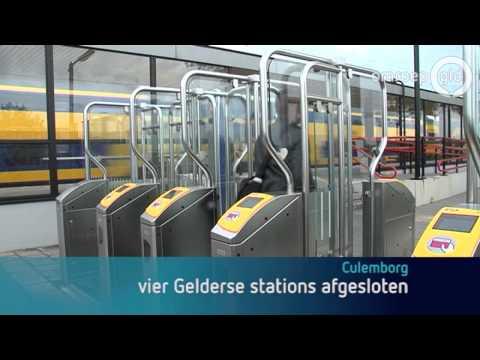 Station Culemborg afgesloten met poortjes voor zwartrijders