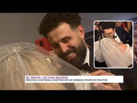 Martohet MC Kresha me Erzinën, ja pamjet – VIDEO