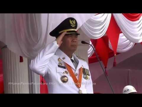 Upacara HUT RI 71 di Halaman Kantor Walikota Pekanbaru 17 Agustus 2016