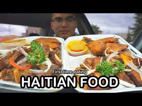 First time eating HAITIAN FOOD MUKBANG