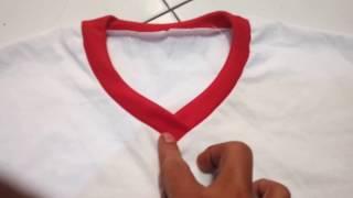 Video BELAJAR CARA MENJAHIT KAOS V-NECK VERSI 2 . how to easy sew a v-neck t-shirt version 2 MP3, 3GP, MP4, WEBM, AVI, FLV September 2018
