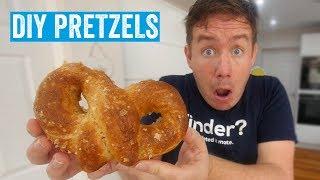 I made soft baked pretzels! by  My Virgin Kitchen