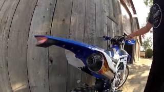 8. 2015 Yamaha WR250F FMF SLIP ON SOUND REVIEW