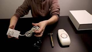Safe Use Face & Body Hair Removal Painless IPL Home Pulsed Light Laser hair epilator Unisex for Men youtube video