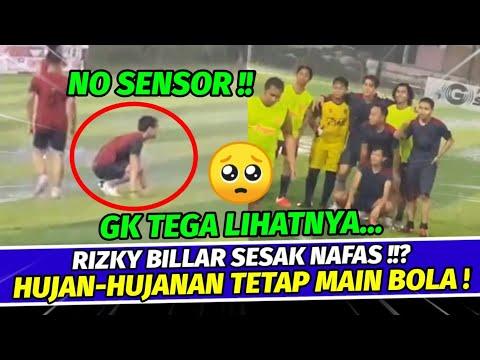 Live Ig barusan Putra Siregar bareng Rizky billar tetap main bola walau turun hujan!
