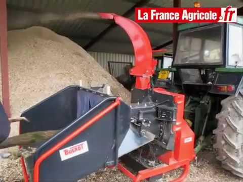 Bugnot calibre la coupe des plaquettes de bois - tracteur et matériel agricole