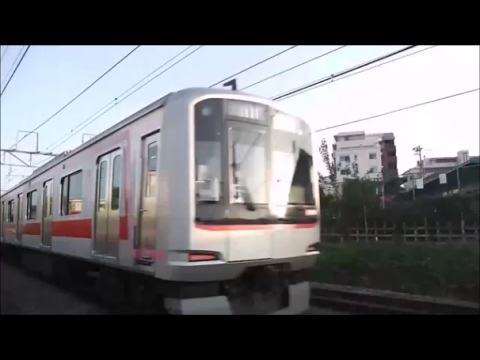 Tokyu direct  drive train riding the Seibu Ikebukuro line running in the straight line of Akitsucho (видео)