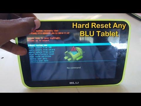 Hard Reset Any BLU Tablet