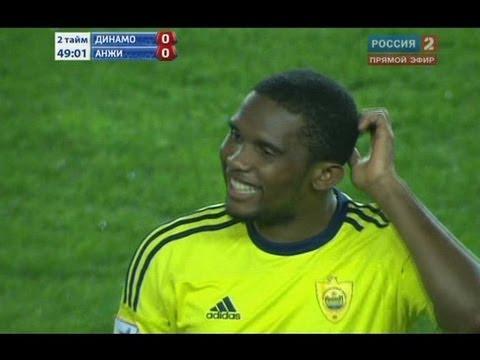Удар Это'О в падении через себя по воротам «Динамо»
