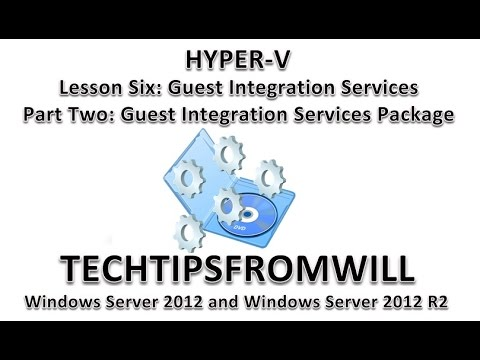 how to enable integration services hyper-v