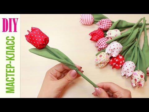 Materiałowe tulipany