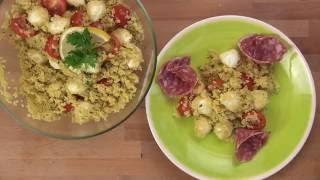 Kuszkusz Saláta Laktózmentes Mozzarellával
