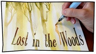 LOST IN THE WOODS || Time-lapse watercolor painting!