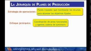 Umh1798 2012-13 Lec30 Planificación Jerárquica De La Producción