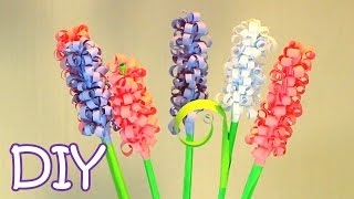 DIY Curly Paper Flowers - How to make Swirly Paper Hyacinths - YouTube