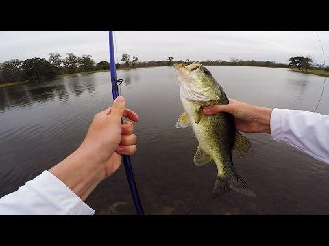 BIG Texas Ranch Adventure Part 1-Catching Pre-Spawn Topwater Bass_Horgászat videók