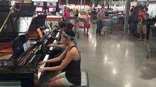 """COSTCO PIANO GIRL & PIANO SALESMAN (Justin Romanowich) // IMPROV of """"Someone Like You"""
