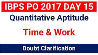 Time & Work  Doubt Clarification for IBPS PO  CLERK IBPS RRB PO  CLERK  SBI PO  [ In Hindi ] ibps po day 15Join Telegram Channel : https://t.me/studysmartbychandrahasLike Our Facebook Page: https://goo.gl/s4l4ZOFollow us on Twitter: https://goo.gl/rvVpDLJoin Our Facebook Group : https://goo.gl/fGDu1d******************************************************Word Power Made Easy Series : https://goo.gl/6siIR5Coding- Decoding New Pattern: https://goo.gl/SnrS6MEconomics Lectures: https://goo.gl/XUYM30Reasoning for SBI PO: https://goo.gl/61e9miSyllogism New Pattern: https://goo.gl/KvzfbJEnglish New Pattern : https://goo.gl/Ci290cData Sufficiency: https://goo.gl/NSxIUaAll Reasoning Ability Videos : https://goo.gl/o4BwxSAll Quantitative Aptitude Videos: https://goo.gl/p8jorgBinary Coding : https://goo.gl/Y2NN5ZCoding Decoding : https://goo.gl/TfxEsySpotting Error : https://goo.gl/Xdll51Order and Ranking : https://goo.gl/yM9tYuStatic Gk : https://goo.gl/uEIPSLAlphanumeric Series : https://goo.gl/UKOEJFMensuration : https://goo.gl/WcrD0UDirection Sense : https://goo.gl/3z1qGUComputer Awareness Videos : https://goo.gl/OccvRSAverage Aptitude Tricks : https://goo.gl/t84F1lReasoning puzzle tricks : https://goo.gl/eKnb8CRatio and Proportion Tricks: https://goo.gl/Zepp2LPartnership Problems Tricks For IBPS PO :https://goo.gl/0pUwqnTime And Work Problems Shortcuts and Tricks: https://goo.gl/qn15TpPercentage Problems Tricks and Shortcuts: https://goo.gl/krGtAeTime Speed and Distance : https://goo.gl/unELgnProbability : https://goo.gl/FswNBmMixture and Alligation Tricks : https://goo.gl/TBqbEN Blood Relation Tricks : https://goo.gl/yAOE2CPermutations and Combinations Tricks : https://goo.gl/gSALX0Quadratic Equations Tricks : https://goo.gl/ZDyDkWProfit and Loss Tricks: https://goo.gl/NOO6p6Number Series Tricks: https://goo.gl/qcvqejBanking Awareness (Static) : https://goo.gl/JelscLInequalities Short tricks: https://goo.gl/qQo2kcSpeed Maths video : https://goo.gl/7er1OQSimplification And 