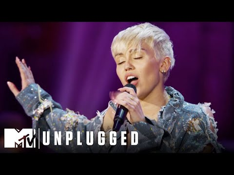 """Miley Cyrus Performs """"Adore You"""" 2014 Unplugged Special 