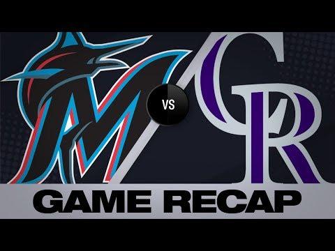 Video: Hampson lifts Rockies in 7-6 walk-off win | Marlins-Rockies Game Highlights 8/18/19