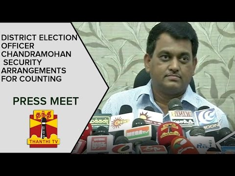 DISTRICT-Election-Officer-Chandramohan-on-Security-Arrangements-for-Counting-Press-Meet