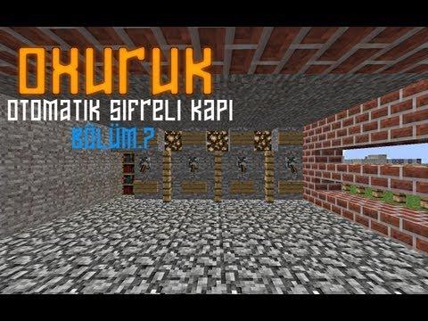 Minecraft Otomatik Şifreli Kapı Yapımı
